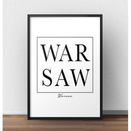 "Skandynawski plakat ""WARSAW"""