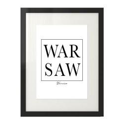 Plakat na ścianę z napisem WARSAW