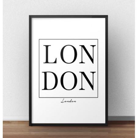 "Plakat z napisem ""LONDON"""