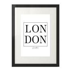 """Nowoczesny plakat typograficzny z napisem """"LONDON"""" w ramce"""