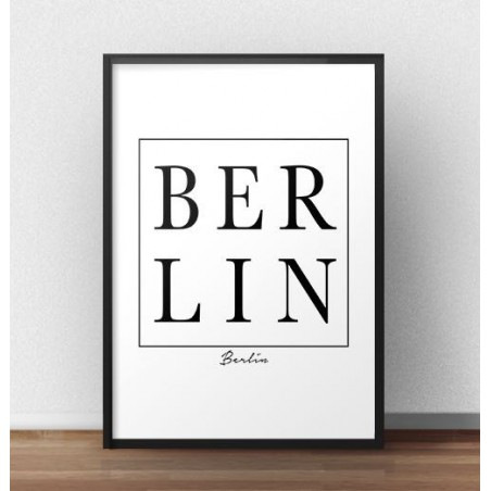 """Plakat na ścianę z napisem """"BERLIN"""""""