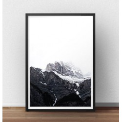 """Nowoczesny plakat na ścianę """"Śnieżne góry"""""""