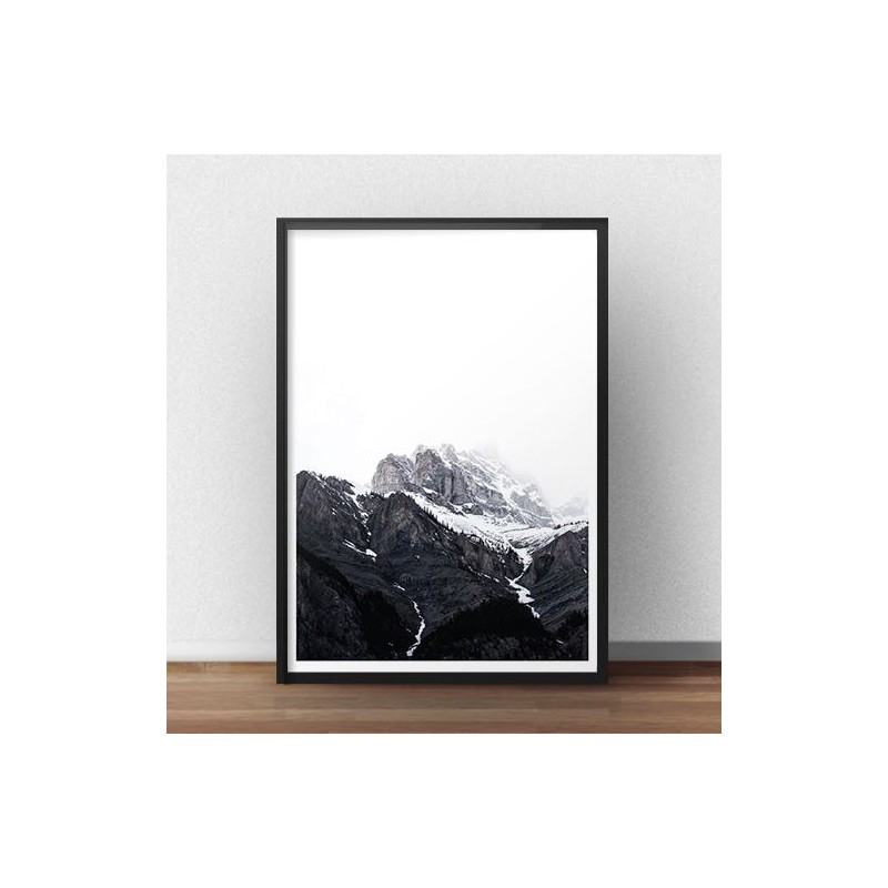 Plakat na ścianę Śnieżne góry