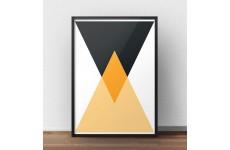 Geometryczny plakat na ścianę nowoczesnego wnętrza