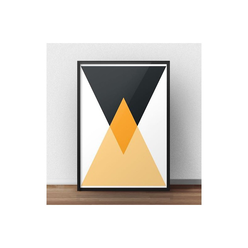 Geometric poster Two triangles