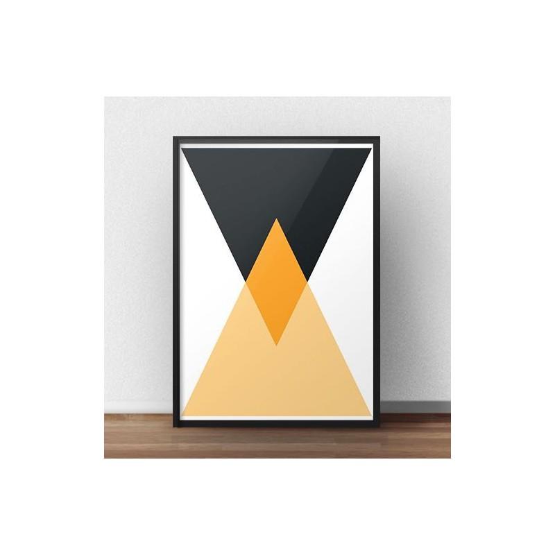 Plakat geometryczny Dwa trójkąty