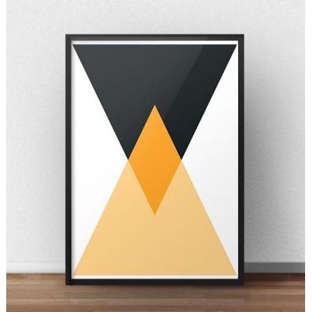 """Plakat geometryczny """"Dwa trójkąty"""""""