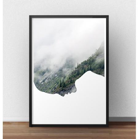 """Nowoczesny plakat """"Z głową w chmurach"""""""