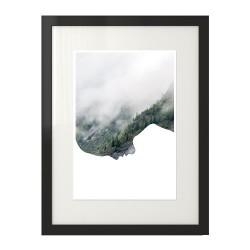 """Skandynawski plakat na ścianę 2 w 1 - """"Głowa w chmurach"""""""