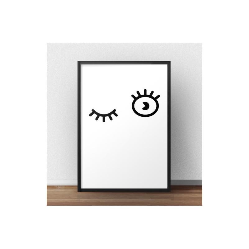 Minimalist poster Dropped eyelet