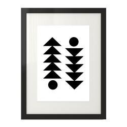 """Plakat geometryczny na ścianę """"Skandynawska symetria"""""""