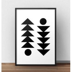 """Skandynawski plakat na ścianę """"Skandynawska symetria"""""""