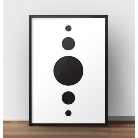 """Plakat geometryczny """"Piktogram"""""""