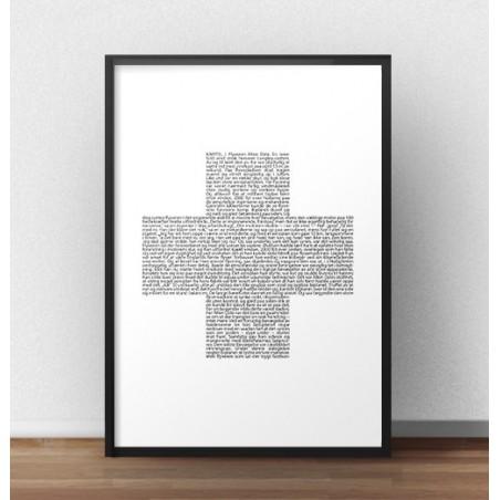 Skandynawski plakat z krzyżykiem