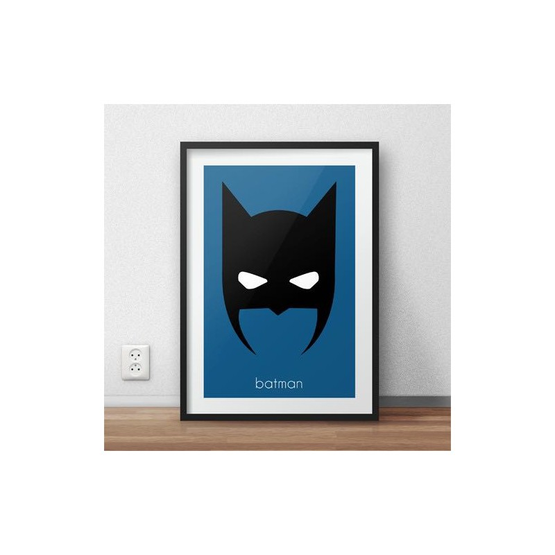 Plakat z głową Batmana w wersji kolorowej