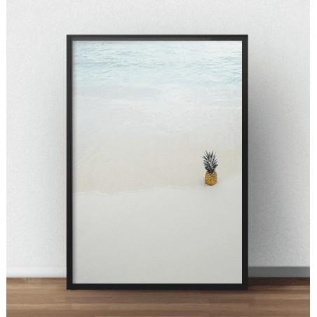 """Kolorowa grafika na ścianę """"Ananas w oceanie"""""""