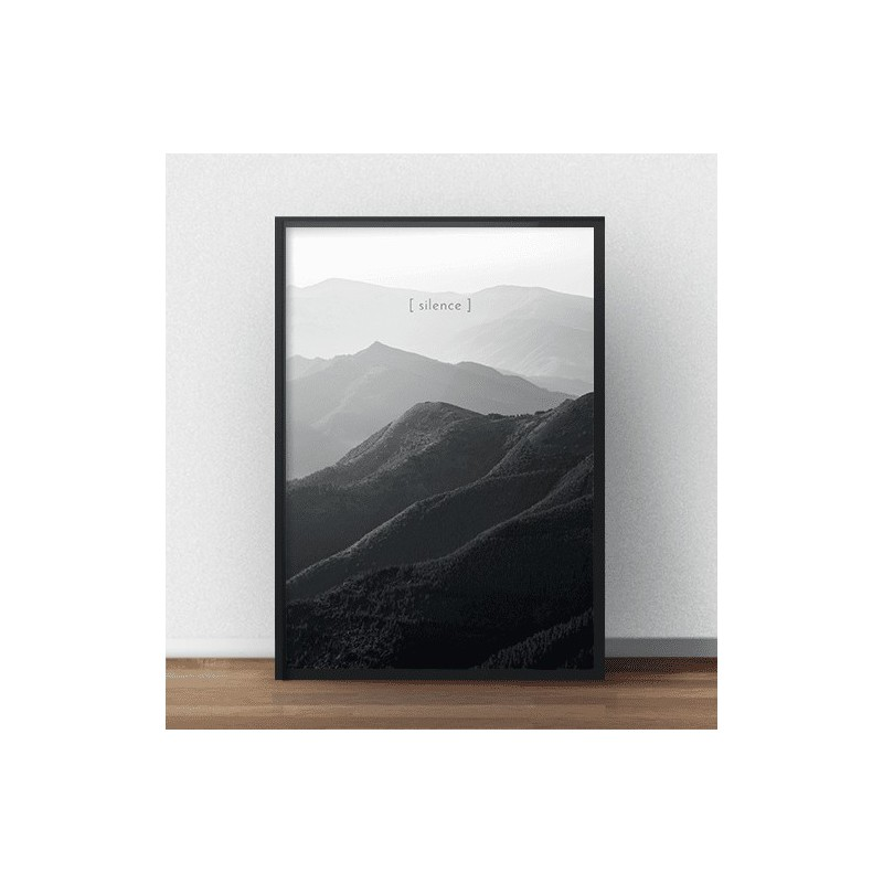 Black and white wall art Silence