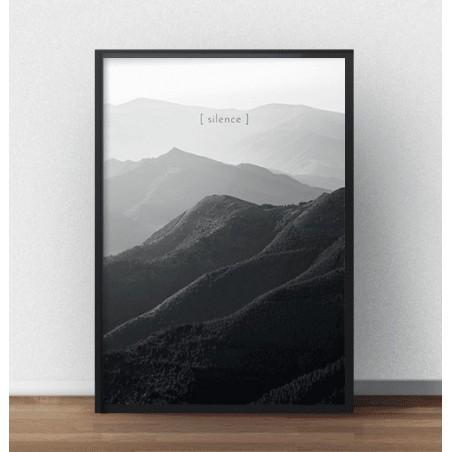"""Czarno-biała grafika na ścianę """"Silence"""""""
