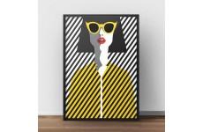 """Kolorowy plakat na ścianę """"Żółte okulary"""""""