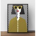 Kolorowy plakat Żółte okulary