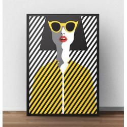 "Kolorowy plakat ""Żółte okulary"""