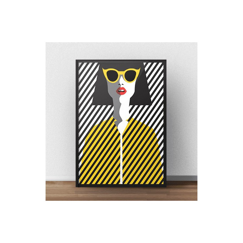 Colorful poster Yellow glasses