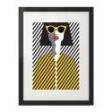 Colorful poster Yellow glasses 2