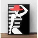 Modernist poster Beachgoer