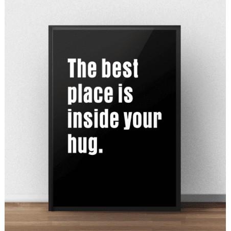"Plakat z napisem ""Hug"""