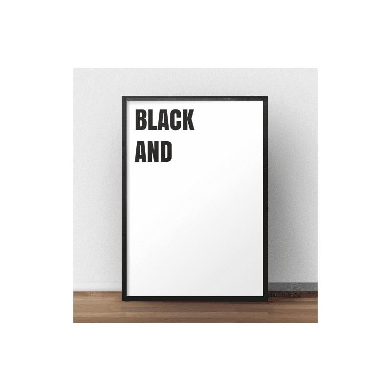 Nowoczesny plakat Black and (white)