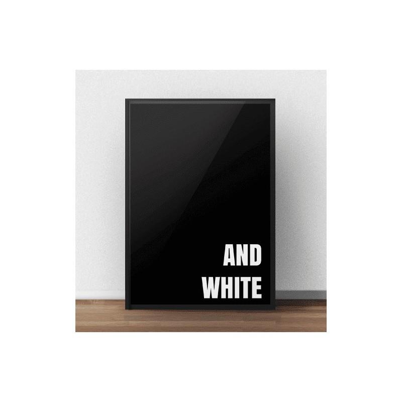 """Czarny plakat w stylu modernistycznym """"(Black) and white"""""""