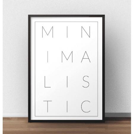 "Nowoczesny plakat ""MINIMALISTIC"""