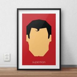 Plakat z postacią Supermana w wersji kolorowej
