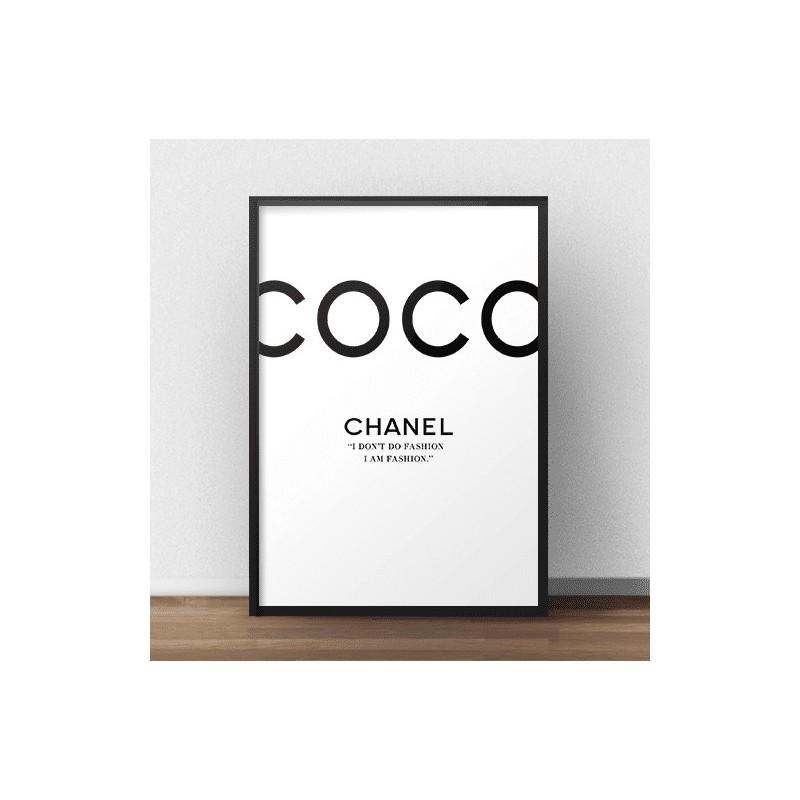 """Nowoczesny i elegancki plakat na ścianę z napisem """"Coco Chanel"""""""