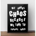 Typograficzny plakat Chaos