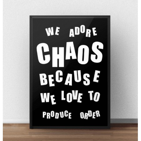 """Typograficzny plakat """"Chaos"""""""