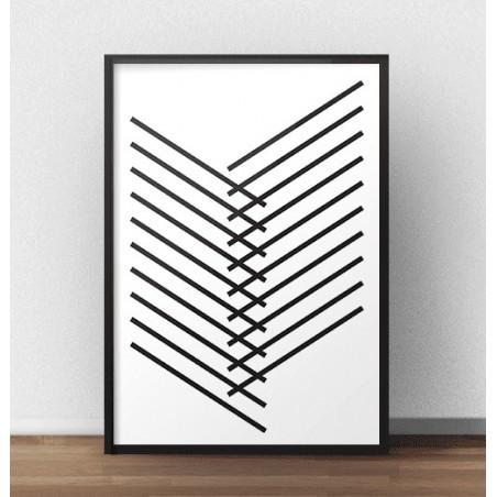 """Plakat geometryczny """"Kreski"""""""