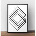"""Skandynawski plakat geometryczny na ścianę """"Prostokątna abstrakcja"""""""