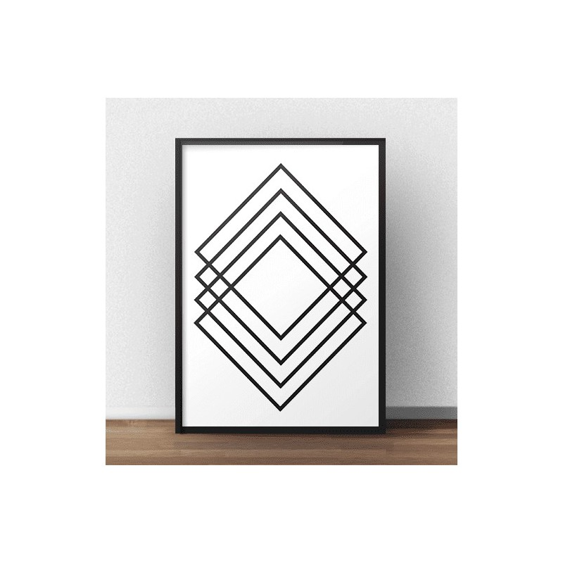 Geometric poster Rectangular abstraction