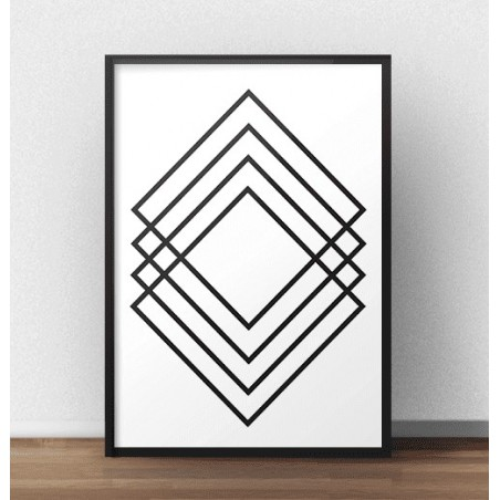 "Plakat geometryczny ""Prostokątna abstrakcja"""