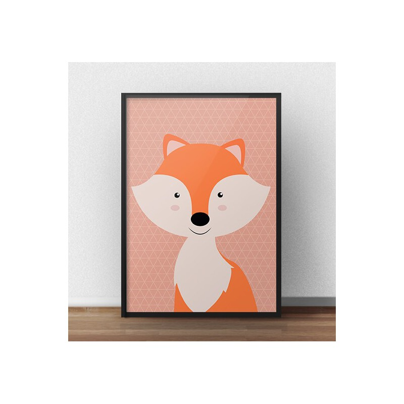 Poster with a fox for children