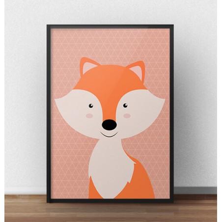 Plakat z lisem dla dzieci