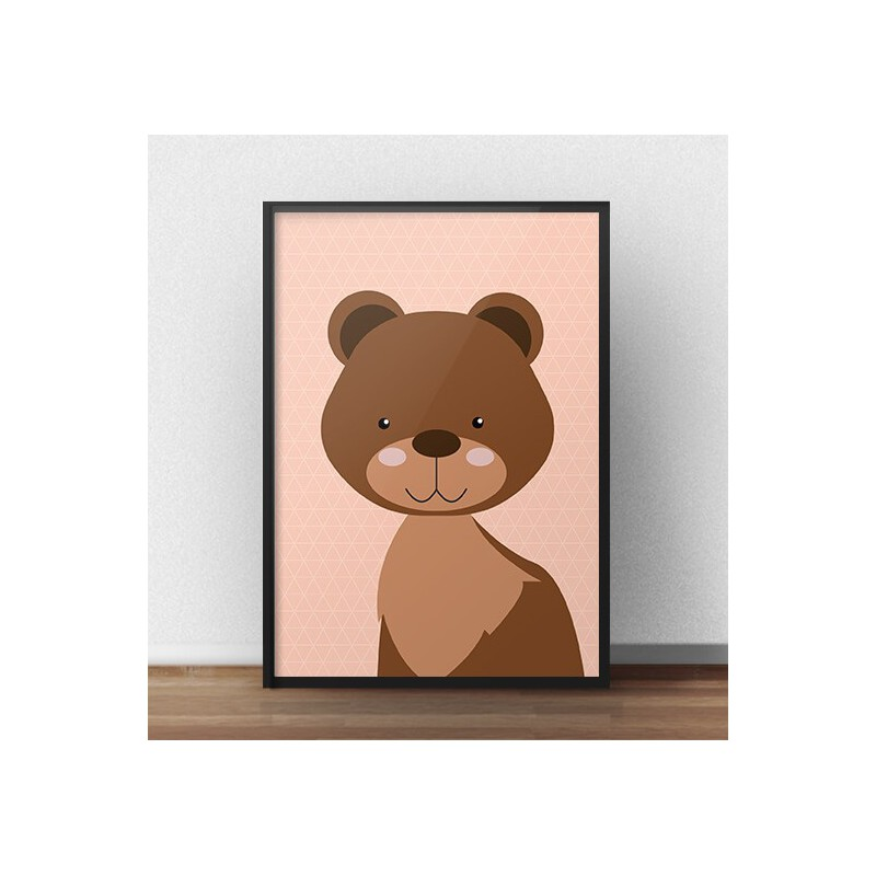 Poster with a teddy bear for children