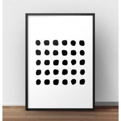 Geometryczny plakat na ścianę do nowoczesnego wnętrza urządzonego w stylu minimalistycznym lub skandynawskim przedstawiający cza