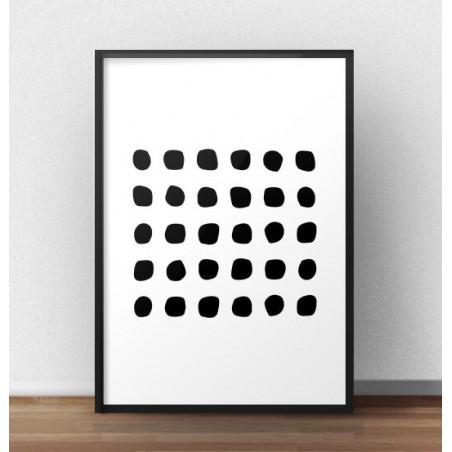 """Skandynawski plakat geometryczny """"Kamyczki"""""""