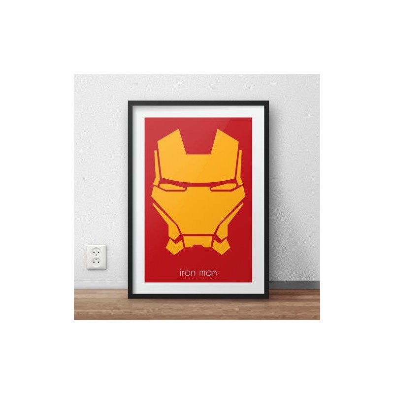 Plakat z postacią Iron Mana w wersji kolorowej