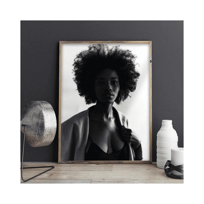 Poster with black woman