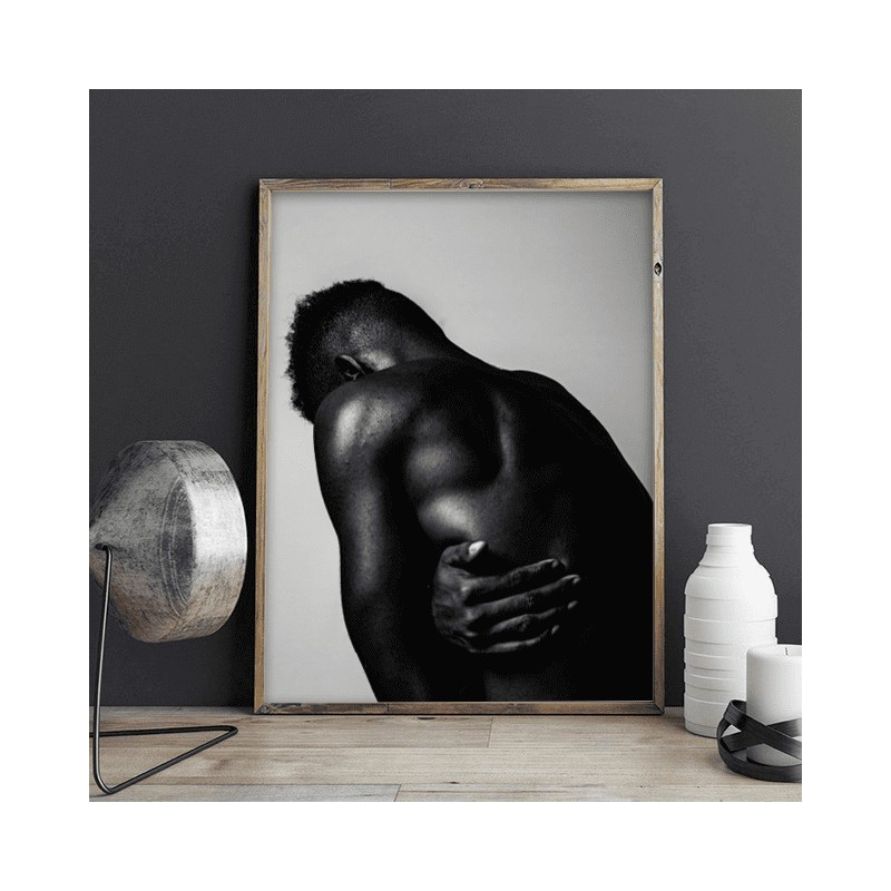 Poster with a black man