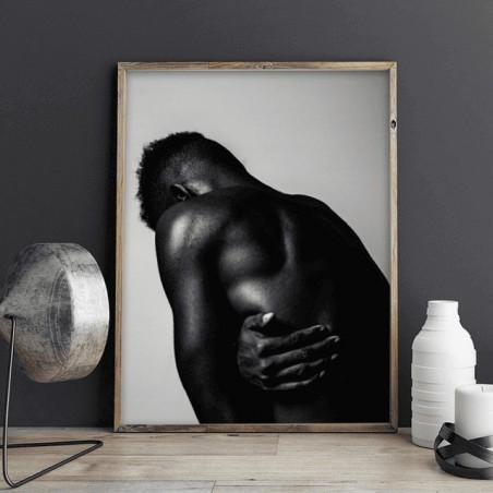 Plakat z czarnoskórym mężczyzną