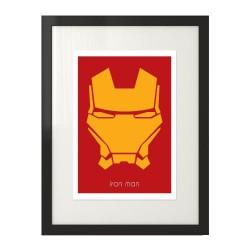 Plakat z postacią Iron Mana w wersji kolorowej w wersji żółto-czerwonej